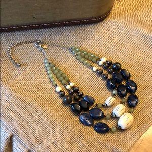 Chico's triple strand statement necklace.